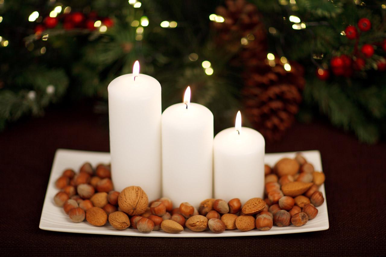 Karácsonyi dekoráció a házban