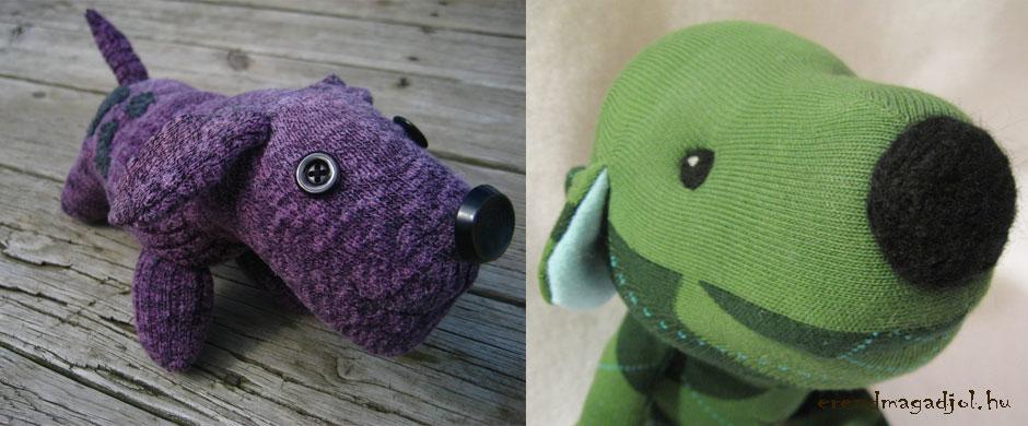 Kreatív ajándék- zokniból kutyus
