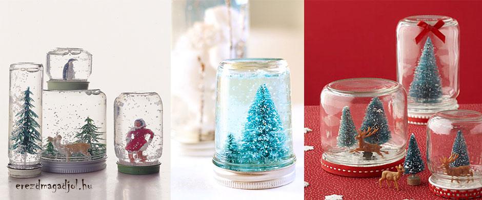 Csodavilág a befőttes üvegben – hógömb házilag