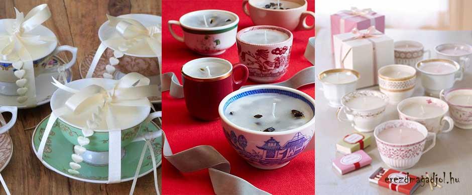 Illatos gyertya ajándékba- saját készítésű karácsonyi ajándék ötlet