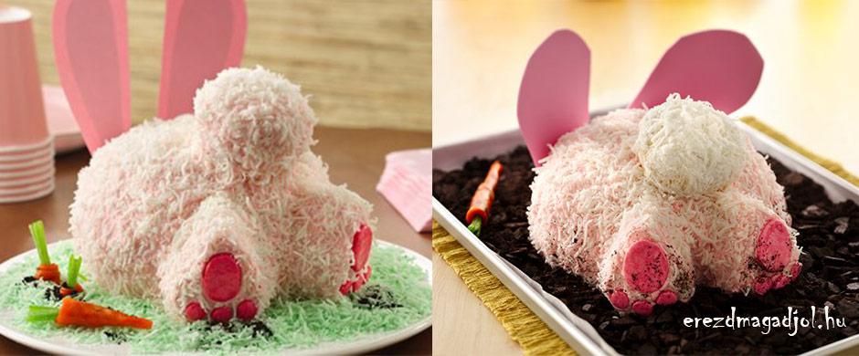 Nyuszis torta Húsvétra