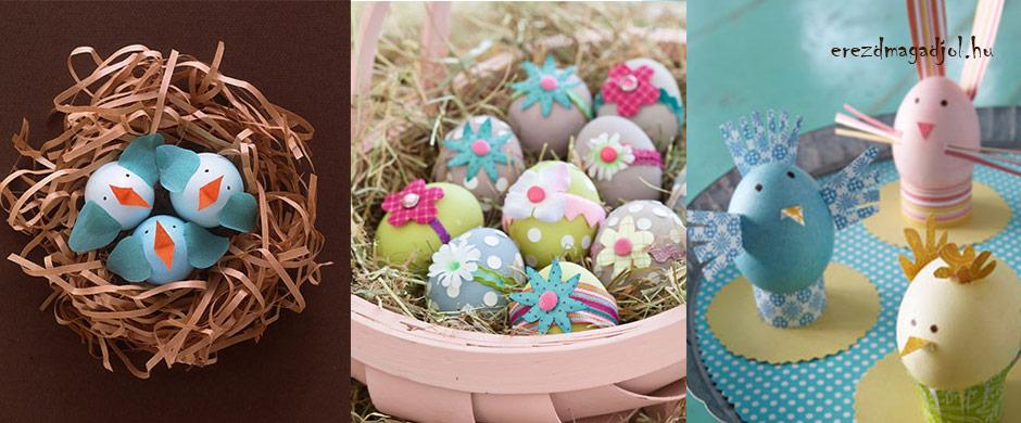 Kreatív húsvéti tojások – olcsó húsvéti dekorációs ötletek