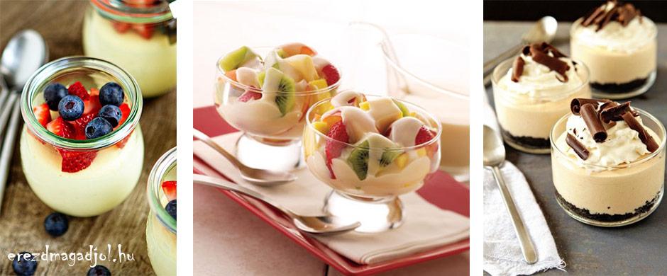 Diétás vaníliás-erdei gyümölcsös pohárkrém – tortakrémnek is tökéletes