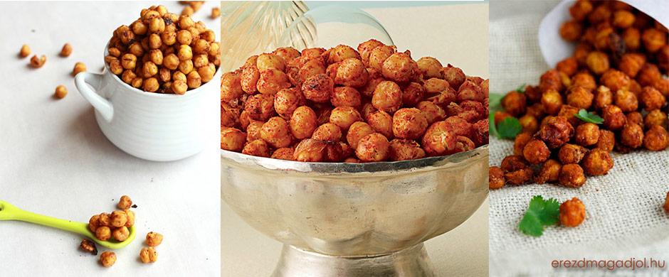 Ropogós csicseriborsó– csipsz helyett egészséges nasi
