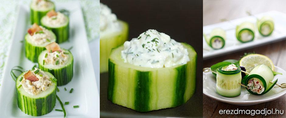 Diétás fetás uborkatekercs – egészséges grillparty