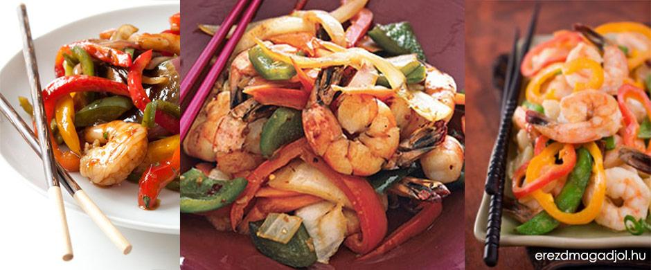 Stir fry garnélarákkal – gyors és diétás ebéd