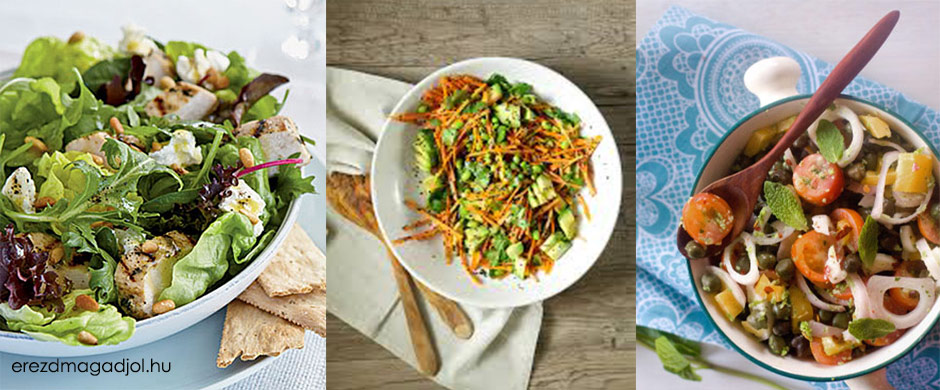 Saláta ötletek vacsira és ebédre- diétás, finom és gyors