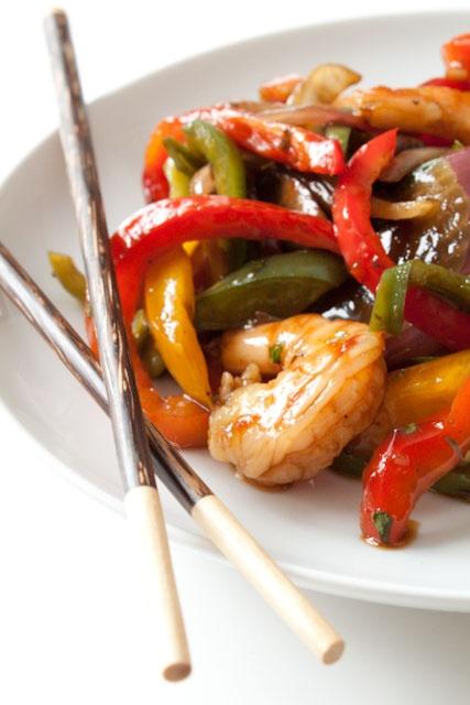 egészséges fogyókúrás étel garnélával