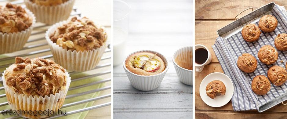 Diétás almás-fahéjas zabkorpás muffin