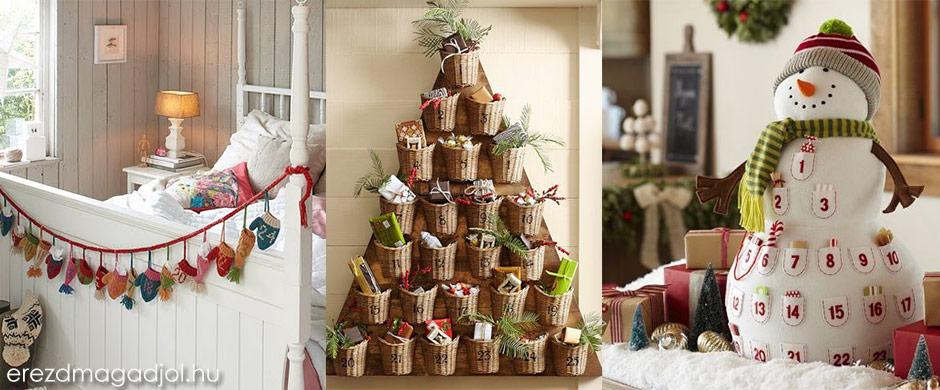 Karácsonyi adventi naptár – karácsonyi ötletek