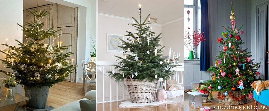 Karácsonyfa kosárban – Karácsonyi dekoráció