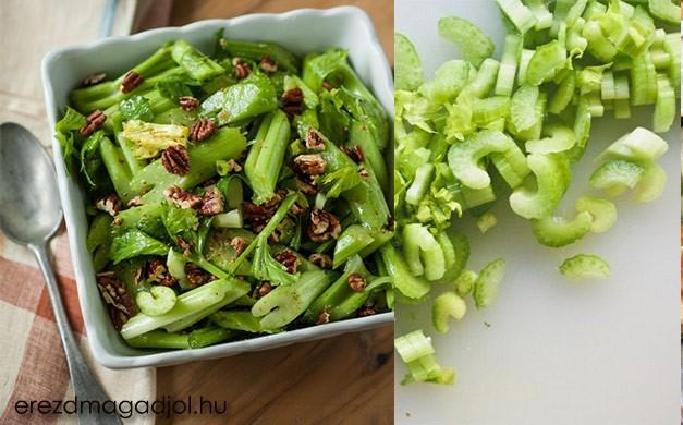 Gyors zellersaláta –szárzeller saláta ínyenceknek