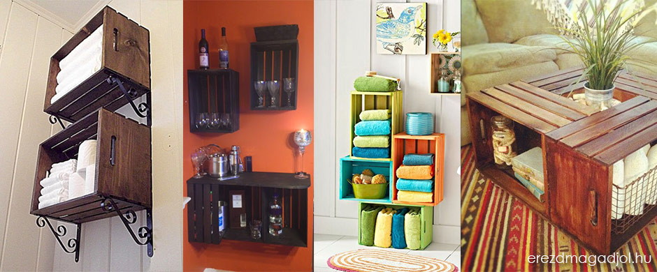 Polcok, szekrények, asztalok rekeszből – DIY és újrahasznosítás
