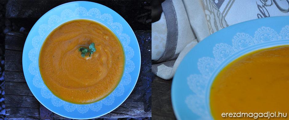 Korianderes sárgarépa krémleves – tejszín és lisztmentes