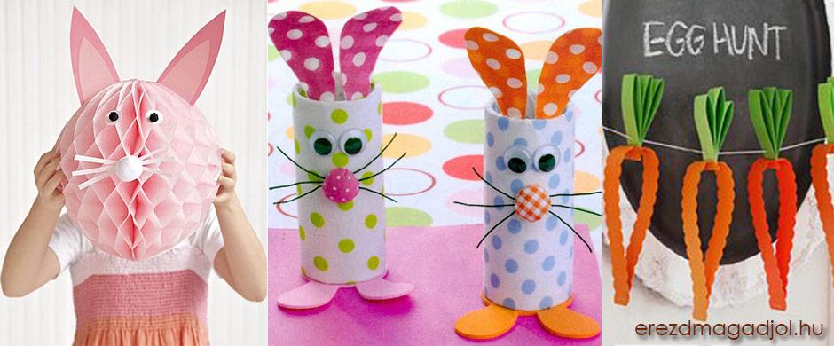 Húsvéti DIY a gyerekekkel – papír dekoráció Húsvtra