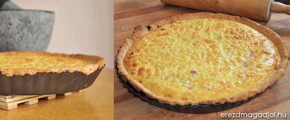 Diétás Quiche Lorraine – könnyű, tojásos ebéd