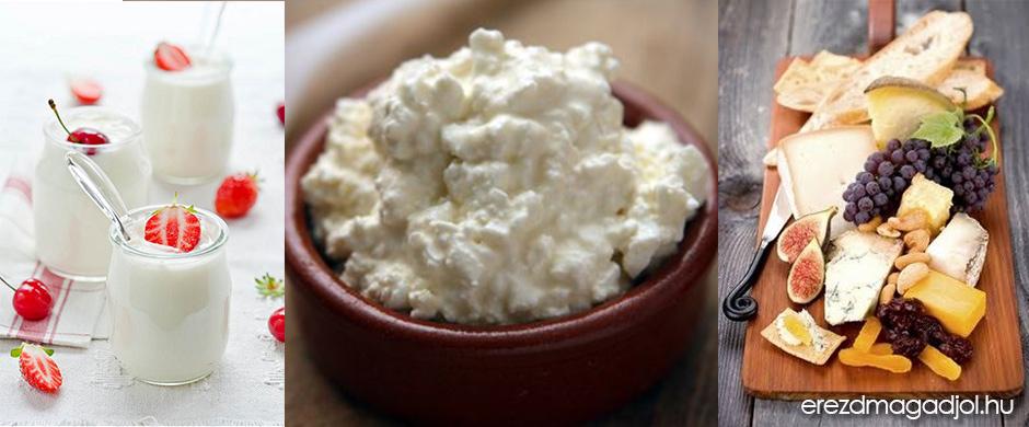 Tejtermékek fogyasztása – joghurt, kefir, tejföl, túró, sajt
