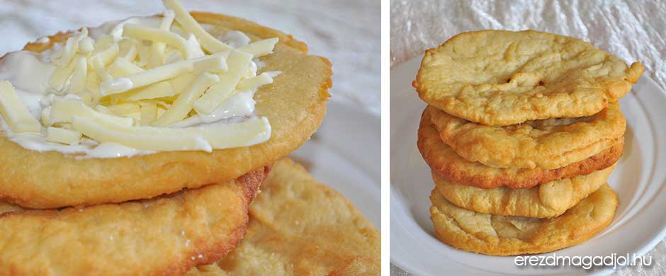 Diétás sajtos-tejfölös lángos