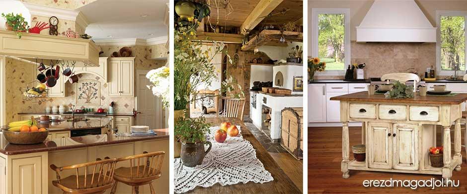 Francia vidéki konyhák – inspirációs ötletek