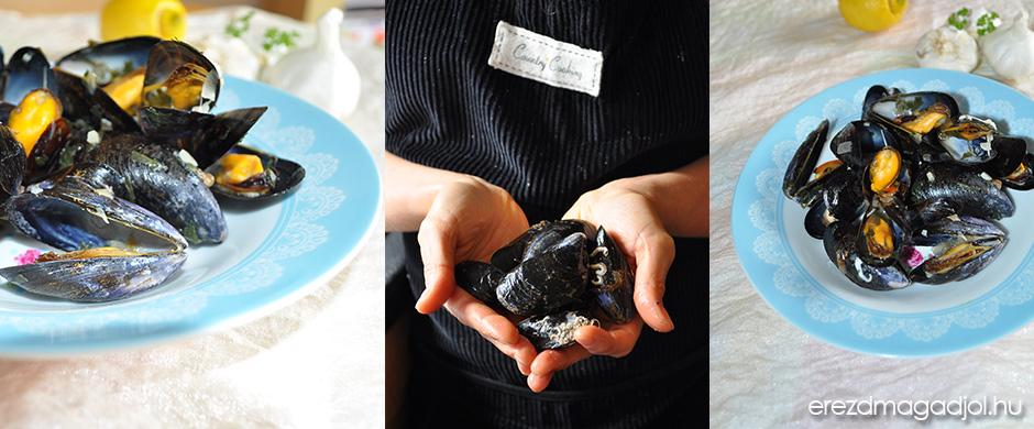 Francia, fehérboros kagyló recept