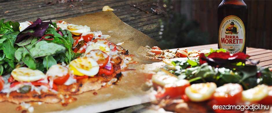 Diétás pizza különlegesség – pizza gyűrű salátával