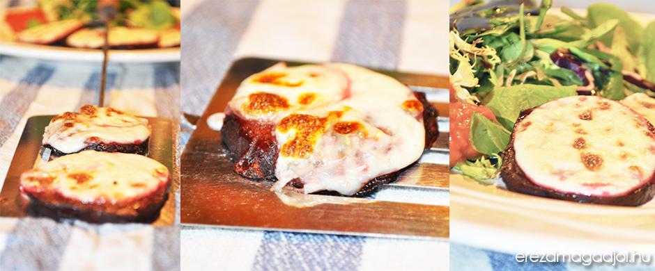 Grillezett mozzarellás cékla