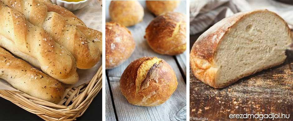 Házi kenyér, zsemle és péksütemény diétásan – kenyérsütő gép nélkül