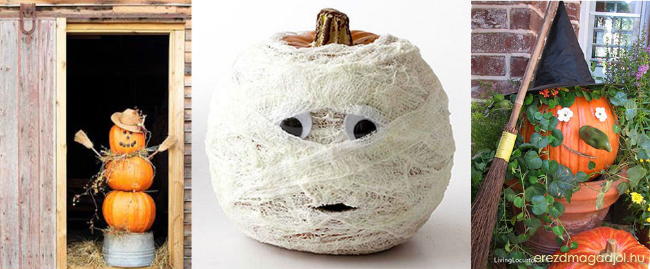 Halloween-i mókás dekorációk