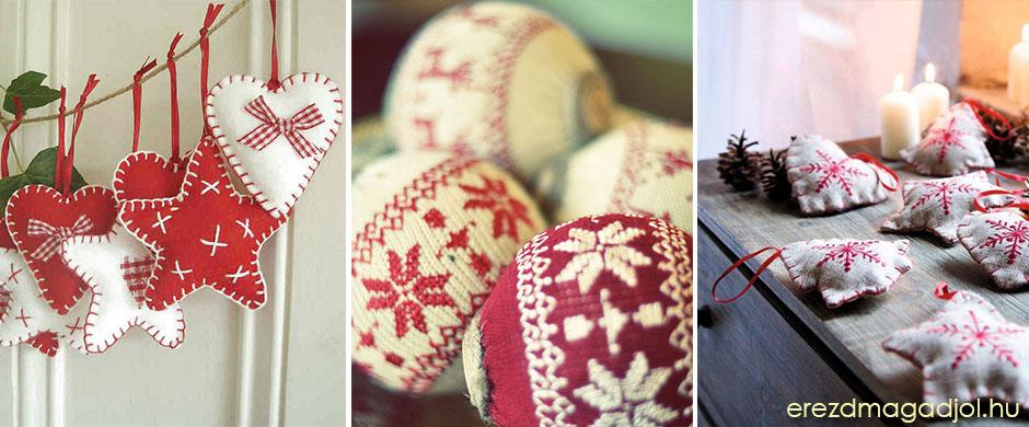 Kötött, horgolt, anyagos DIY karácsonyfadíszek