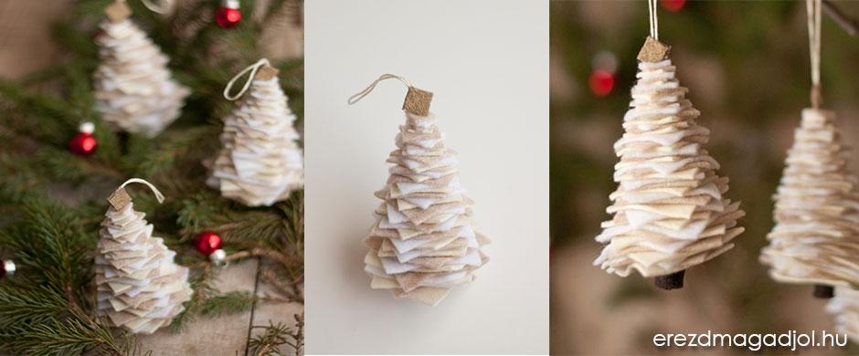 DIY karácsonyfadísz filcből