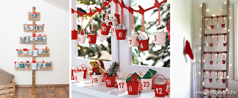 Különleges adventi naptárak – ötletek Adventra
