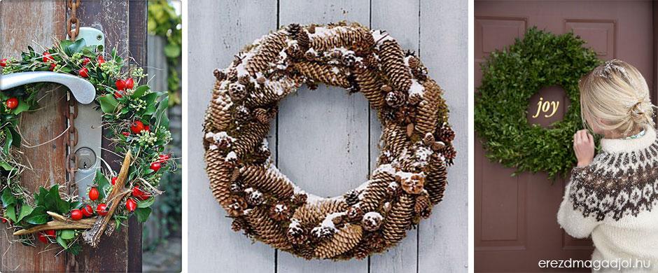 Karácsonyi ajtódísz – kreatív ötletek karácsonyra