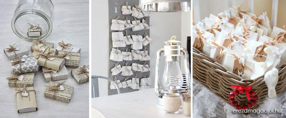 DIY adventi naptár – papírból szépet
