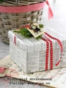 ajandek-csomagolas-ujsagpapirba