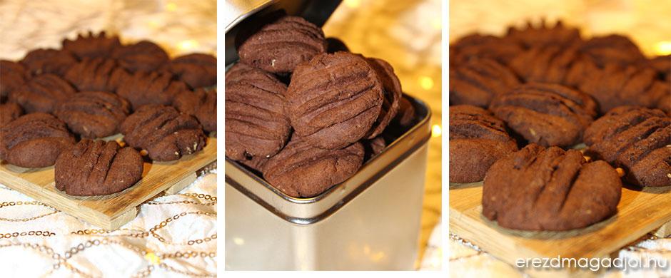Cukormentes kakaós keksz – diétás teasüti