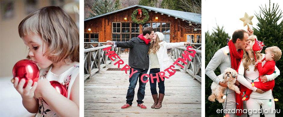 DIY karácsonyi képeslap és fotózás