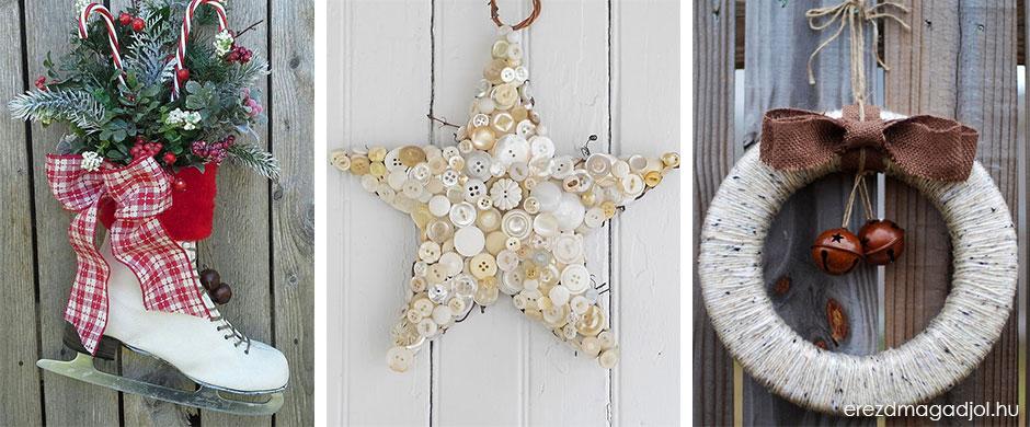 Különleges ajtódíszek – inspiráció karácsonyra