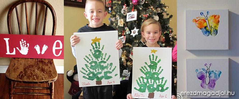 Tenyér és talplenyomatos ajándékok – DIY karácsony