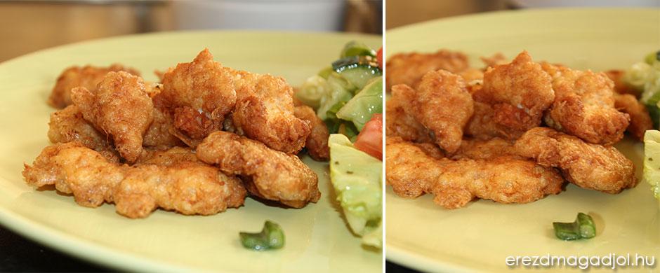 Párizsi bundás csirke  falatok diétásan
