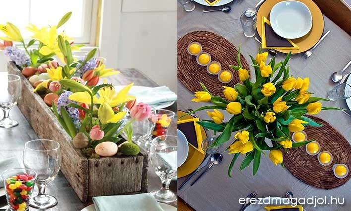 Húsvéti dekoráció az asztalon