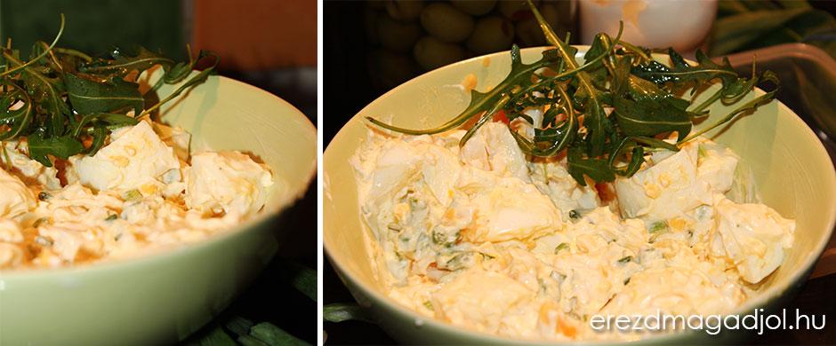Diétás majonézes tojássaláta