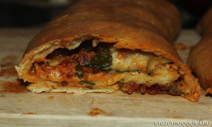 Diétás mediterrán pizzatekercs