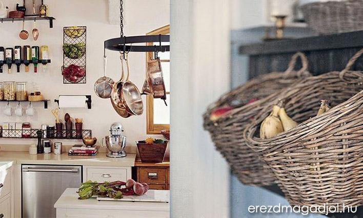 Praktikus tárolók a konyhában