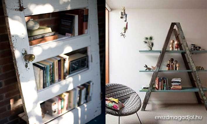Alternatív könyvespolcok – DIY lakberendezés inspiráció