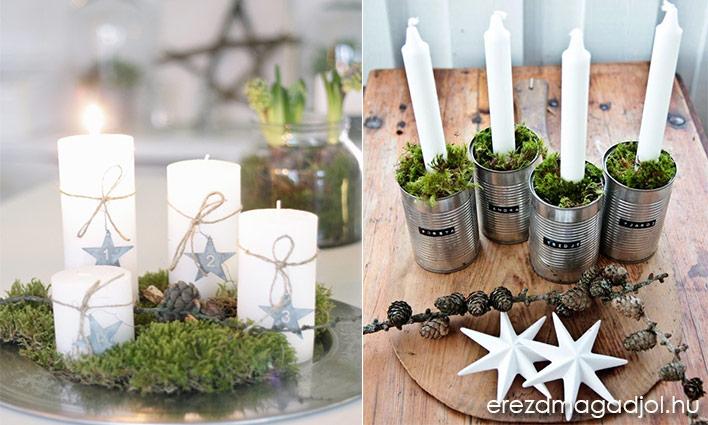 Adventi koszorú ötletek – karácsonyi inspiráció