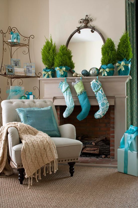 dekoracio-karacsony-turkiz