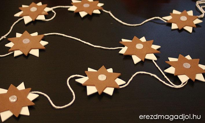 DIY karácsonyi csillagos dísz