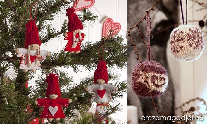 Házi készítésű karácsonyfa díszek