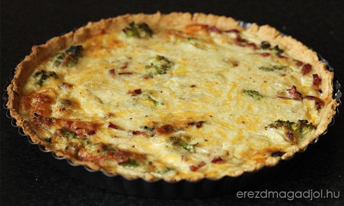 Brokkoli-bacon quiche egészségesen – laktózmetesen is!