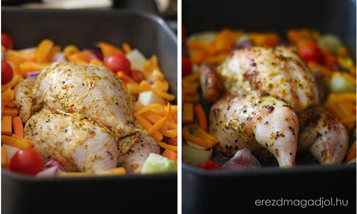 Sült csirke és zöldségek – diétás ebéd ötletek